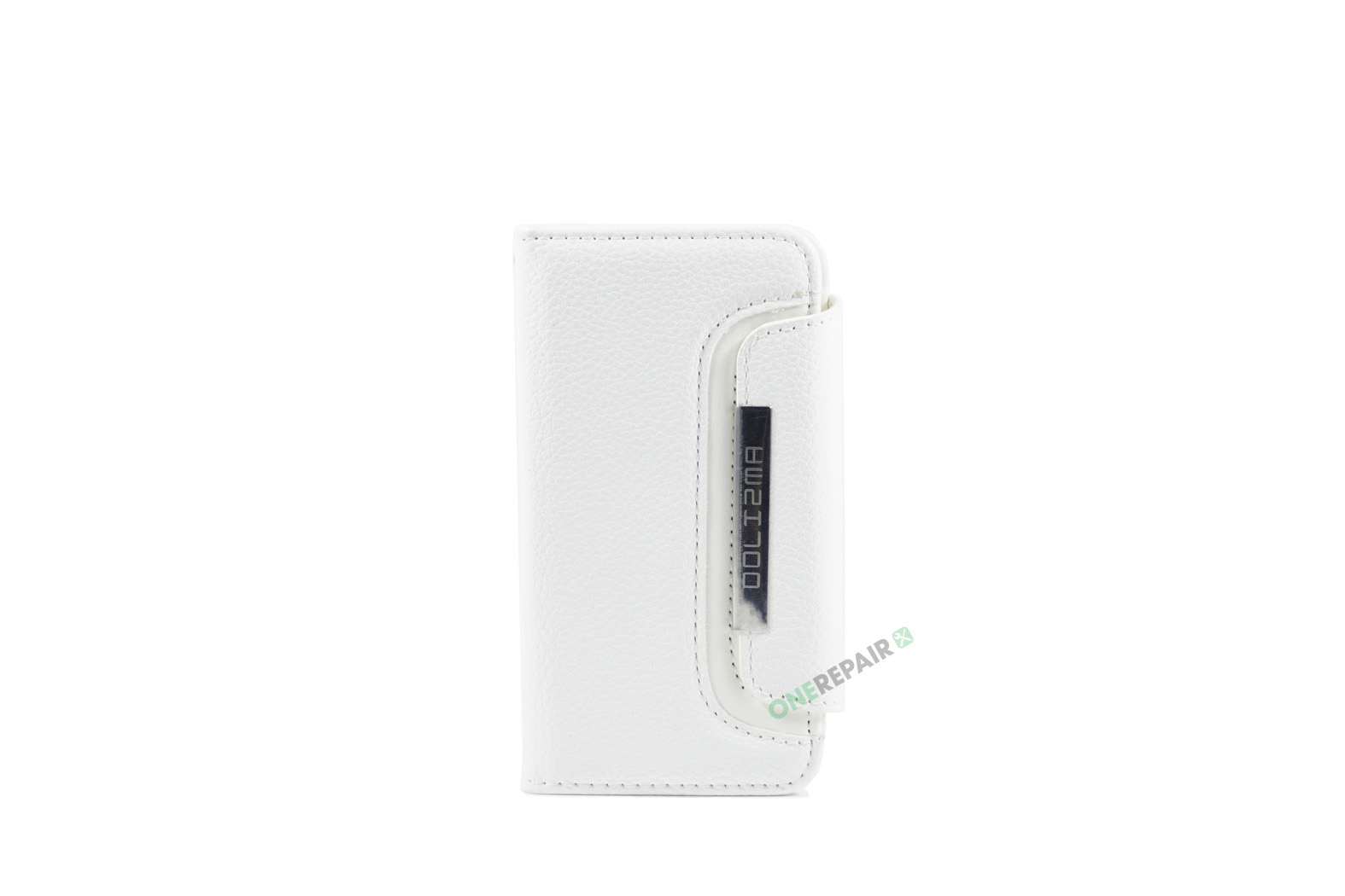 Billig iPhone 5 5S SE Flipcover Magnetcover Magnet kan tages ud Cover Bagcover Gummicover A1453 A1457 A1518 A1528 A1530 A1533 A1428 A1429 A1442 A1723 A1662 A1724 Hvid