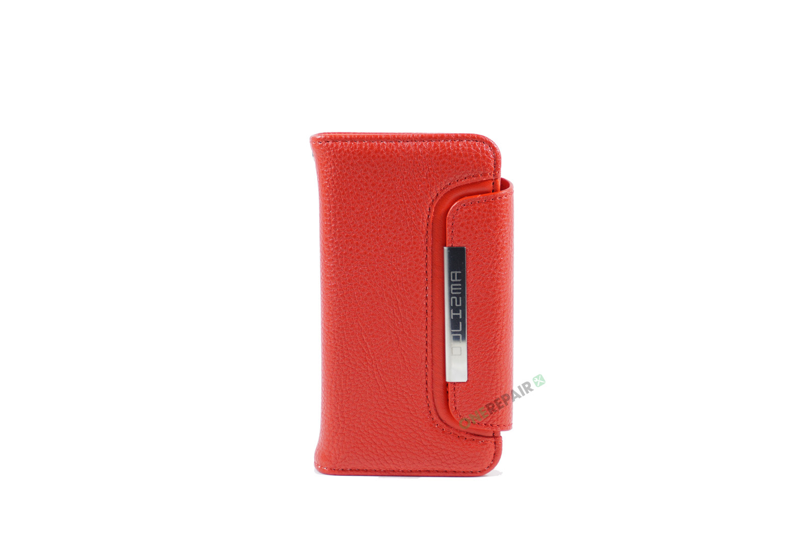Billig iPhone 5 5S SE Flipcover Magnetcover Magnet kan tages ud Cover Bagcover Gummicover A1453 A1457 A1518 A1528 A1530 A1533 A1428 A1429 A1442 A1723 A1662 A1724 Roed