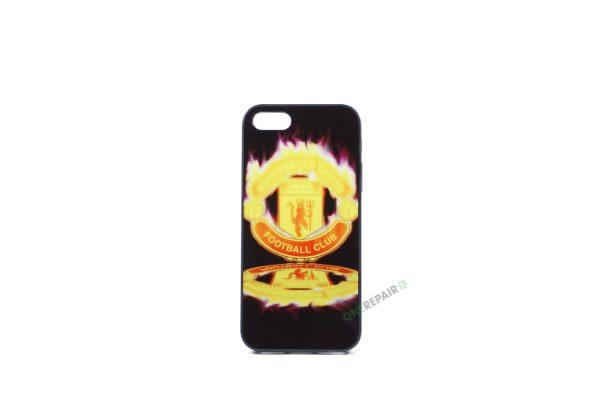Billig iPhone 5 5S SE Cover Bagcover Gummicover A1453 A1457 A1518 A1528 A1530 A1533 A1428 A1429 A1442 A1723 A1662 A1724 Manchester United FC MCU Fodbold Klub