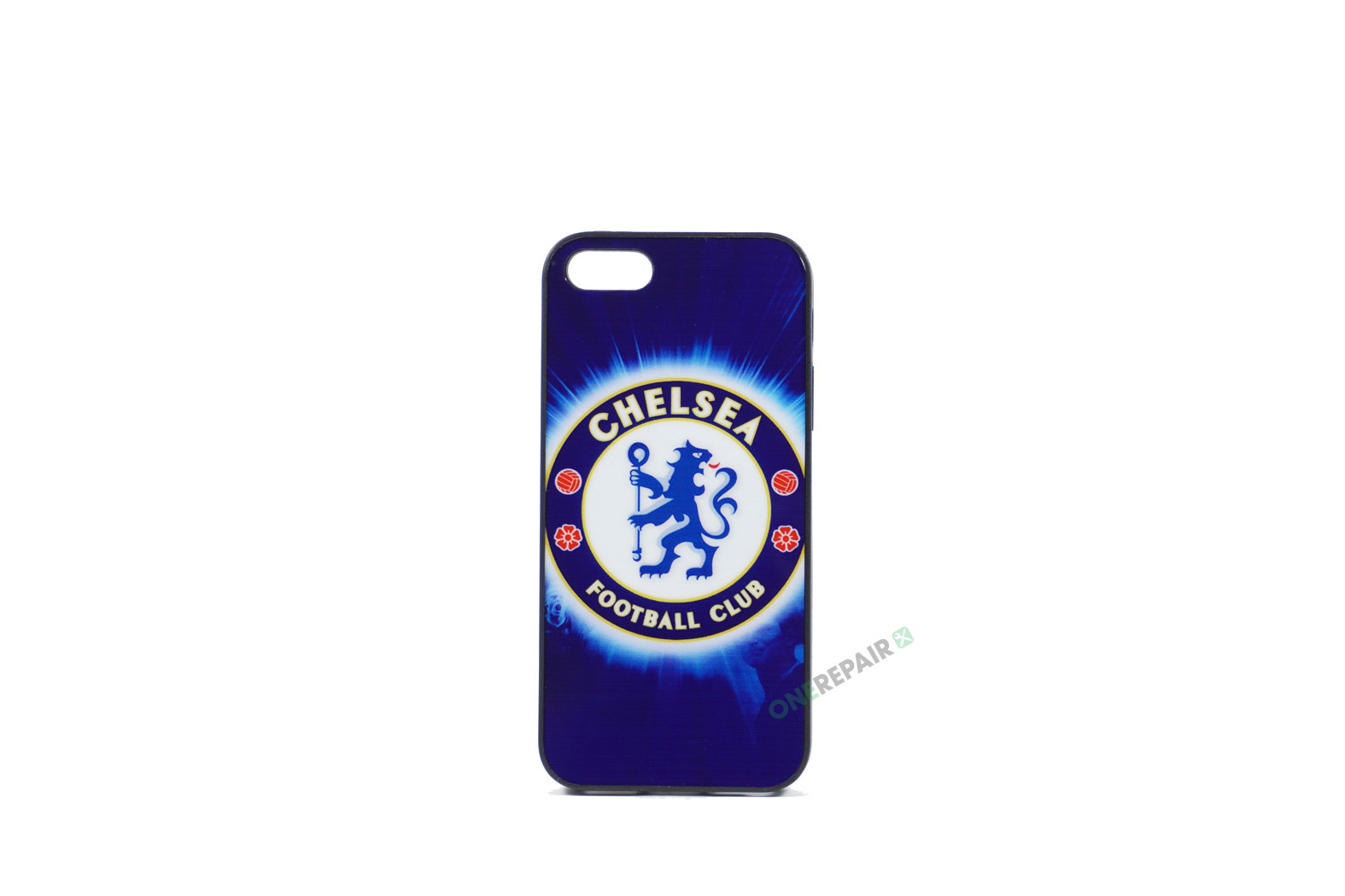 Billig iPhone 5 5S SE Cover Bagcover Gummicover A1453 A1457 A1518 A1528 A1530 A1533 A1428 A1429 A1442 A1723 A1662 A1724 Chelsea FC Blues Fodbold Klub