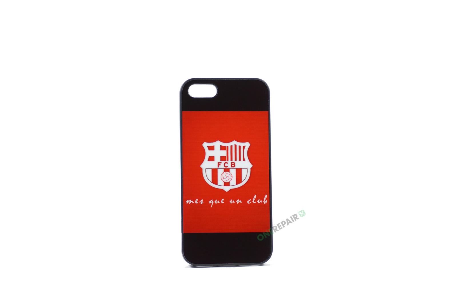 Billig iPhone 5 5S SE Cover Bagcover Gummicover A1453 A1457 A1518 A1528 A1530 A1533 A1428 A1429 A1442 A1723 A1662 A1724 FC Barcelona FCB Fodbold Klub