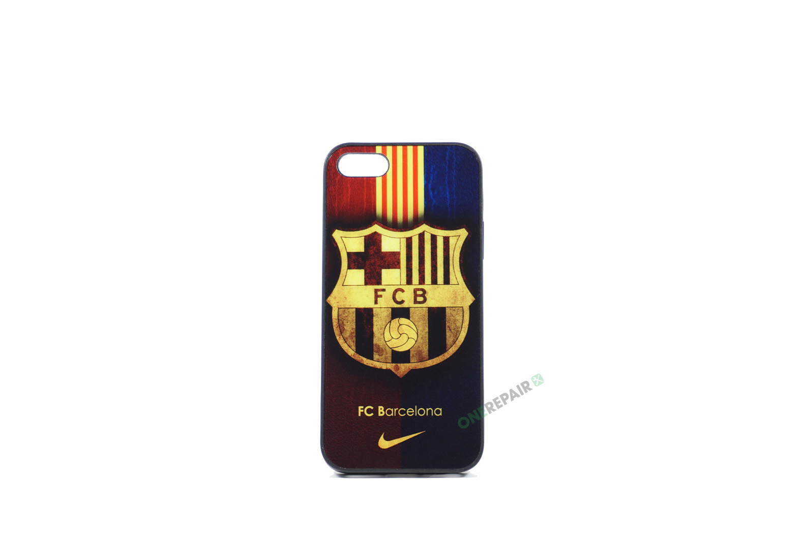 Billig iPhone 5 5S SE Cover Bagcover Gummicover A1453 A1457 A1518 A1528 A1530 A1533 A1428 A1429 A1442 A1723 A1662 A1724 FC Barcelona FCB Fodbold Klub
