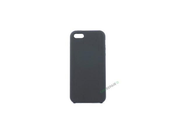 Billig iPhone 5 5S SE Silikone Applecover Apple Cover Bagcover Gummicover A1453 A1457 A1518 A1528 A1530 A1533 A1428 A1429 A1442 A1723 A1662 A1724 Sort