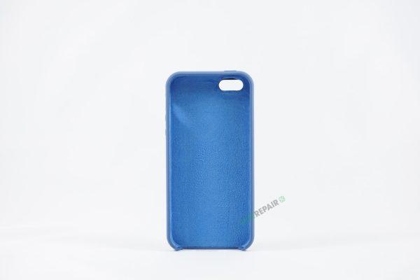 Billig iPhone 5 5S SE Silikone Applecover Apple Cover Bagcover Gummicover A1453 A1457 A1518 A1528 A1530 A1533 A1428 A1429 A1442 A1723 A1662 A1724 Blaa Navyblue