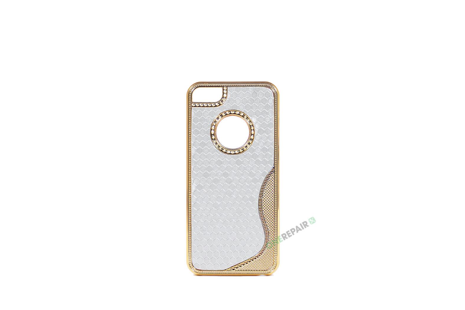 Billig iPhone 5 5S SE Plastik Apple Cover Bagcover Gummicover A1453 A1457 A1518 A1528 A1530 A1533 A1428 A1429 A1442 A1723 A1662 A1724 Shiny Glitter Glimmer