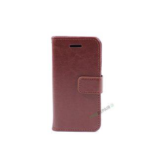 Billig iPhone 5 5S SE Flipcover Pung Plads til kort Apple Cover A1453 A1457 A1518 A1528 A1530 A1533 A1428 A1429 A1442 A1723 A1662 A1724 Brun Laeder