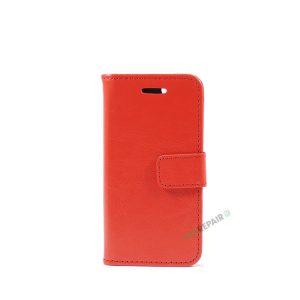 Billig iPhone 5 5S SE Flipcover Pung Plads til kort Apple Cover A1453 A1457 A1518 A1528 A1530 A1533 A1428 A1429 A1442 A1723 A1662 A1724 Roed