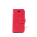 Billig iPhone 5 5S SE Cover Flipcover Pung Plads til kort A1453 A1457 A1518 A1528 A1530 A1533 A1428 A1429 A1442 A1723 A1662 A1724 LyseRoed Lyseråd Pink