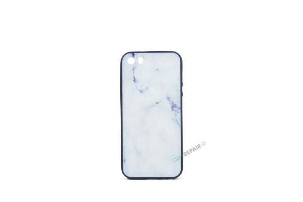 Billig iPhone 5 5S SE Cover Bagcover Moenster Mønster Marmor cover Gummicover A1453 A1457 A1518 A1528 A1530 A1533 A1428 A1429 A1442 A1723 A1662 A1724 Blaa