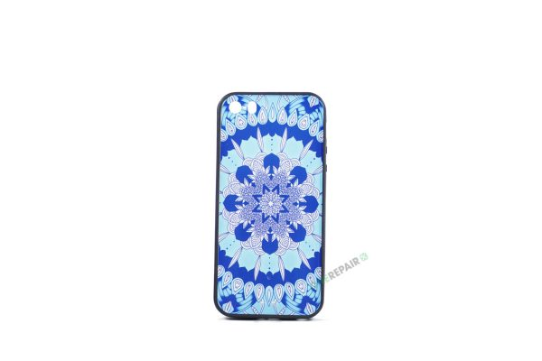 Billig iPhone 5 5S SE Cover Bagcover Moenster Mønster cover Gummicover A1453 A1457 A1518 A1528 A1530 A1533 A1428 A1429 A1442 A1723 A1662 A1724 Blaa