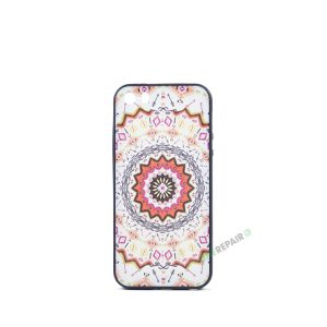 Billig iPhone 5 5S SE Cover Bagcover Moenster Mønster cover Gummicover A1453 A1457 A1518 A1528 A1530 A1533 A1428 A1429 A1442 A1723 A1662 A1724 Orange