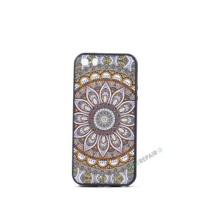 Billig iPhone 5 5S SE Cover Bagcover Moenster Mønster cover Gummicover A1453 A1457 A1518 A1528 A1530 A1533 A1428 A1429 A1442 A1723 A1662 A1724 Orange