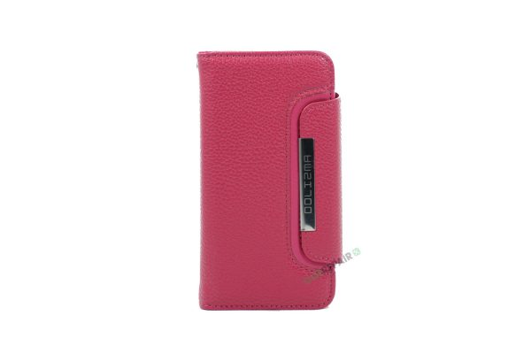 iPhone 6, 6S, A1549, A1586, A1589, A1633, A1688, A1700, A1691, Apple, Flipcover, Sort, Magnetcover, 2 i en, Pung, Fold, Cover, Plads til kort, Pink, Lyserød, Lyseroed