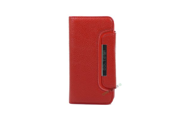 iPhone 6, 6S, A1549, A1586, A1589, A1633, A1688, A1700, A1691, Apple, Flipcover, Sort, Magnetcover, 2 i en, Pung, Fold, Cover, Plads til kort, rød, roed