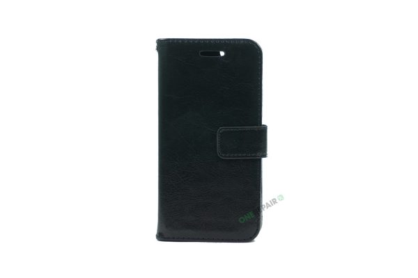 iPhone 6, 6S, A1549, A1586, A1589, A1633, A1688, A1700, A1691, Apple, Flipcover, Pung, Fold, Cover, Plads til kort, Sort