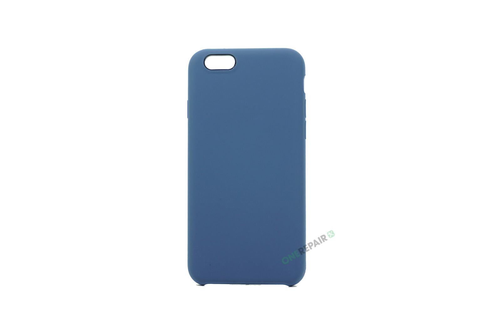 iPhone 6, 6S, A1549, A1586, A1589, A1633, A1688, A1700, A1691, Apple, Bagcover, SIlikone, Cover, Billig, Blå, Blaa, Navyblue
