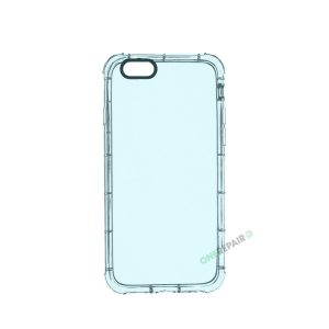 iPhone 6, 6S, A1549, A1586, A1589, A1633, A1688, A1700, A1691, Apple, Cover, Transparent, Gennemsigtig, Blaa, Blå