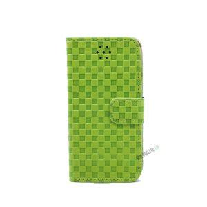 iPhone 6, 6S, A1549, A1586, A1589, A1633, A1688, A1700, A1691, Apple, Flipcover, Pung, Fold, Cover, Plads til kort, Grøn, groen
