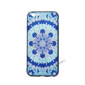 iPhone 6, 6S, A1549, A1586, A1589, A1633, A1688, A1700, A1691, Apple, Bagcover, Cover, Billig, Motiv, Moenster, Mønster, Blaa, Blå