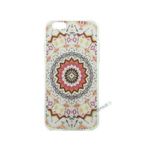 iPhone 6, 6S, A1549, A1586, A1589, A1633, A1688, A1700, A1691, Apple, Bagcover, Cover, Billig, Motiv, Moenster, Mønster, Hvid, Orange,