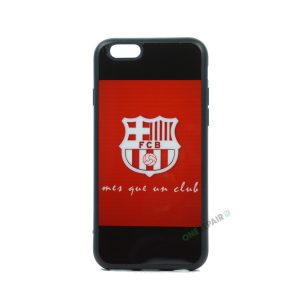 iPhone 6, 6S, A1549, A1586, A1589, A1633, A1688, A1700, A1691, Apple, Bagcover, Cover, Billig, Motiv, Fodbold, Klub, Barcelona, FC, Rød, Roed