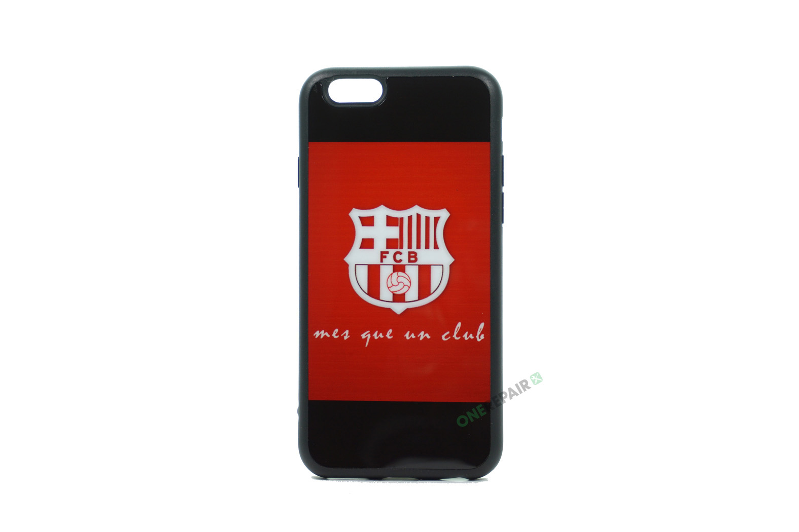 iPhone 6, 6S, A1549, A1586, A1589, A1633, A1688, A1700, A1691, Apple, Bagcover, Cover, Billig, Motiv, Fodbold, Klub, Barcelona, FC, Rød, Roed