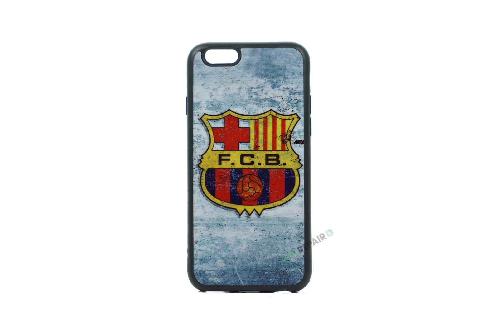 iPhone 6, 6S, A1549, A1586, A1589, A1633, A1688, A1700, A1691, Apple, Bagcover, Cover, Billig, Motiv, Fodbold, Klub, Barcelona, FC,