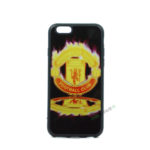 iPhone 6, 6S, A1549, A1586, A1589, A1633, A1688, A1700, A1691, Apple, Bagcover, Cover, Billig, Motiv, Fodbold, Klub, Manchester United, FC, Flame,