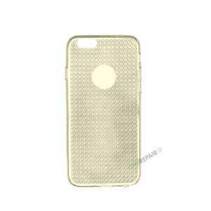 iPhone 6, 6S, A1549, A1586, A1589, A1633, A1688, A1700, A1691, Apple, Cover, Transparent, Gennemsigtig, Gul, Guld