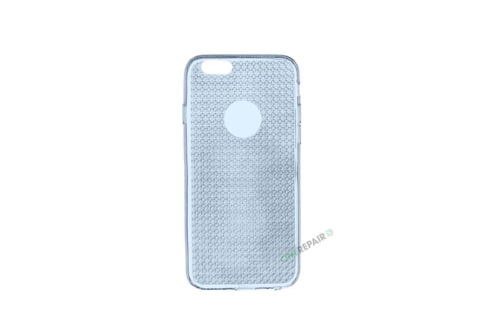 iPhone 6, 6S, A1549, A1586, A1589, A1633, A1688, A1700, A1691, Apple, Cover, Transparent, Gennemsigtig, Blaa, Blå
