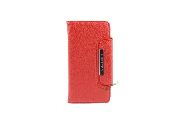 iPhone 6, 6S, A1549, A1586, A1589, A1633, A1688, A1700, A1691, Apple, Flipcover, Magnetcover, 2 i en, Pung, Fold, Cover, Plads til kort, Rød, roed