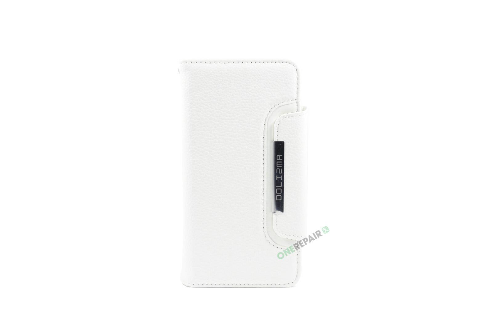 iPhone 6, 6S, A1549, A1586, A1589, A1633, A1688, A1700, A1691, Apple, Flipcover, Magnetcover, 2 i en, Pung, Fold, Cover, Plads til kort, Hvid