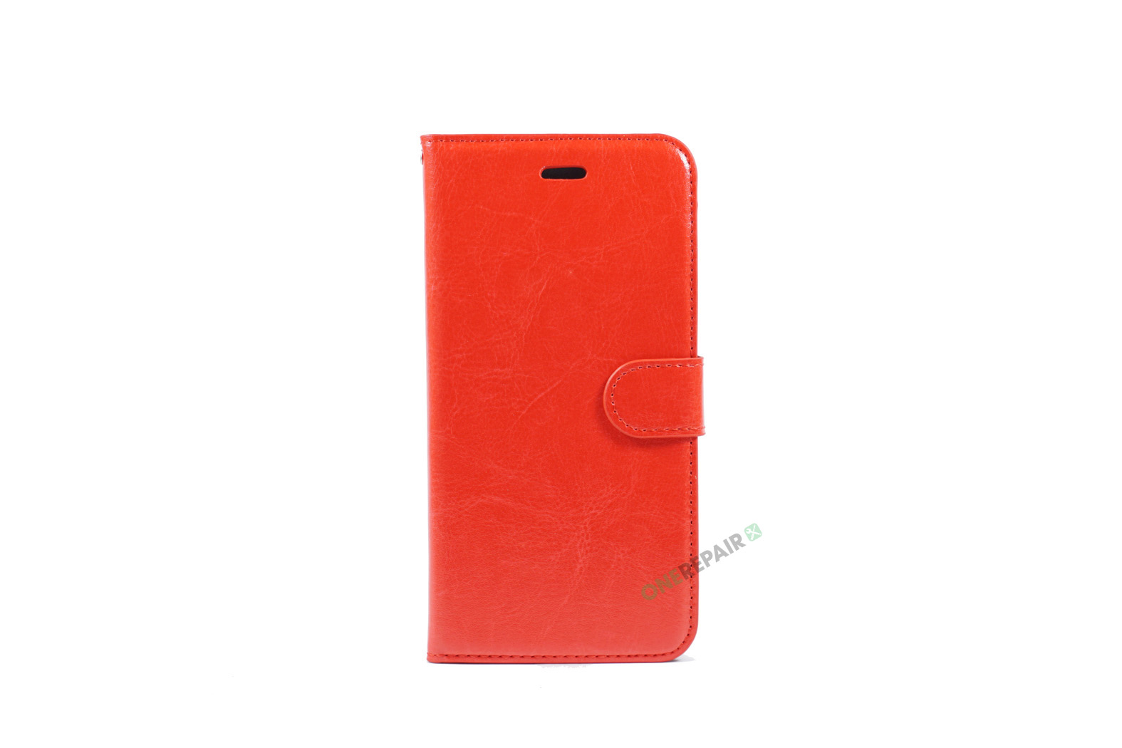 iPhone 6, 6S, A1549, A1586, A1589, A1633, A1688, A1700, A1691, Apple, Flipcover, Pung, Fold, Cover, Plads til kort, Rød, Roed