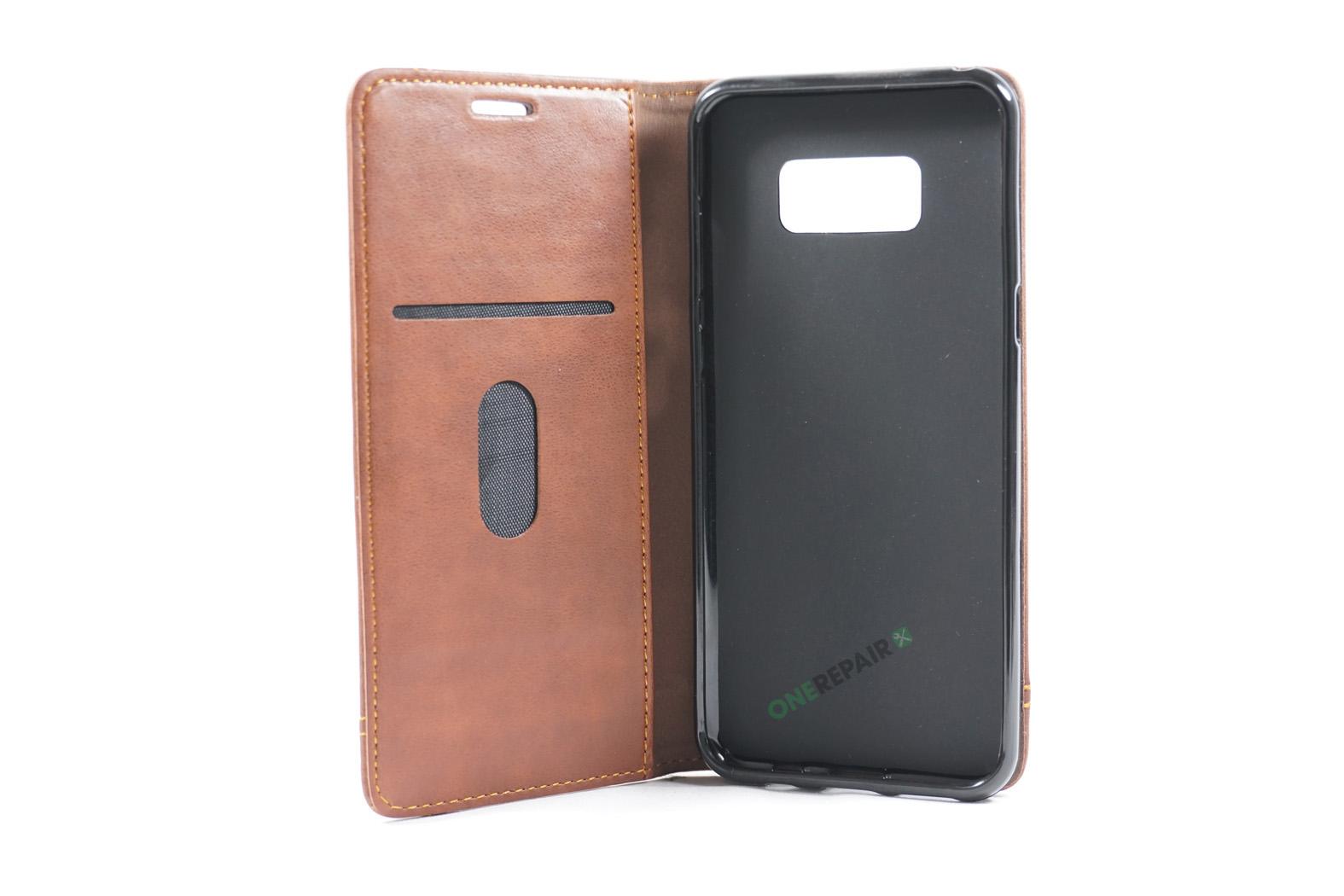 350707_Samsung_S8+_Flipcover_Gummikant_Cover_Brun_OneRepair_00002