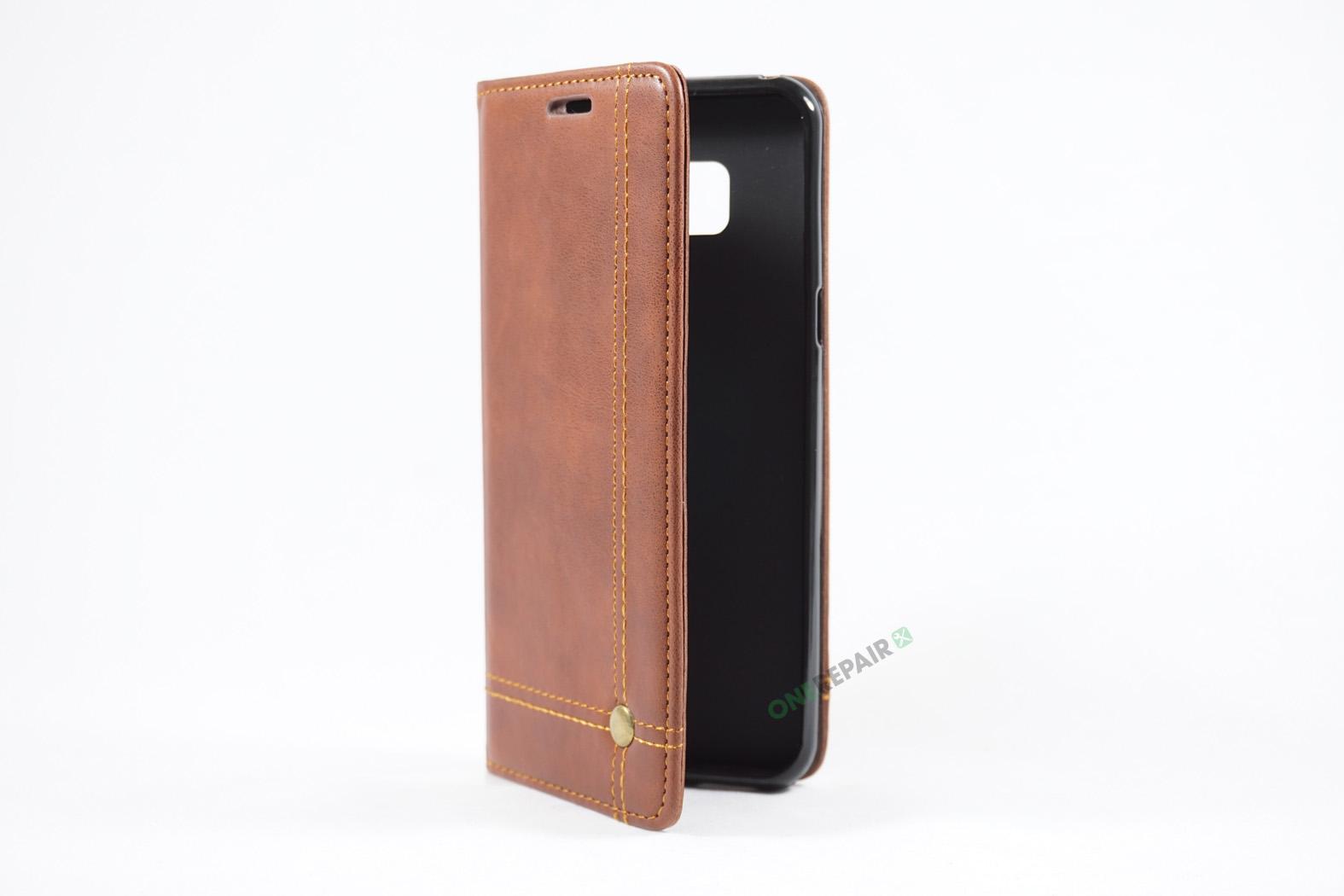 350707_Samsung_S8+_Flipcover_Gummikant_Cover_Brun_OneRepair_00004