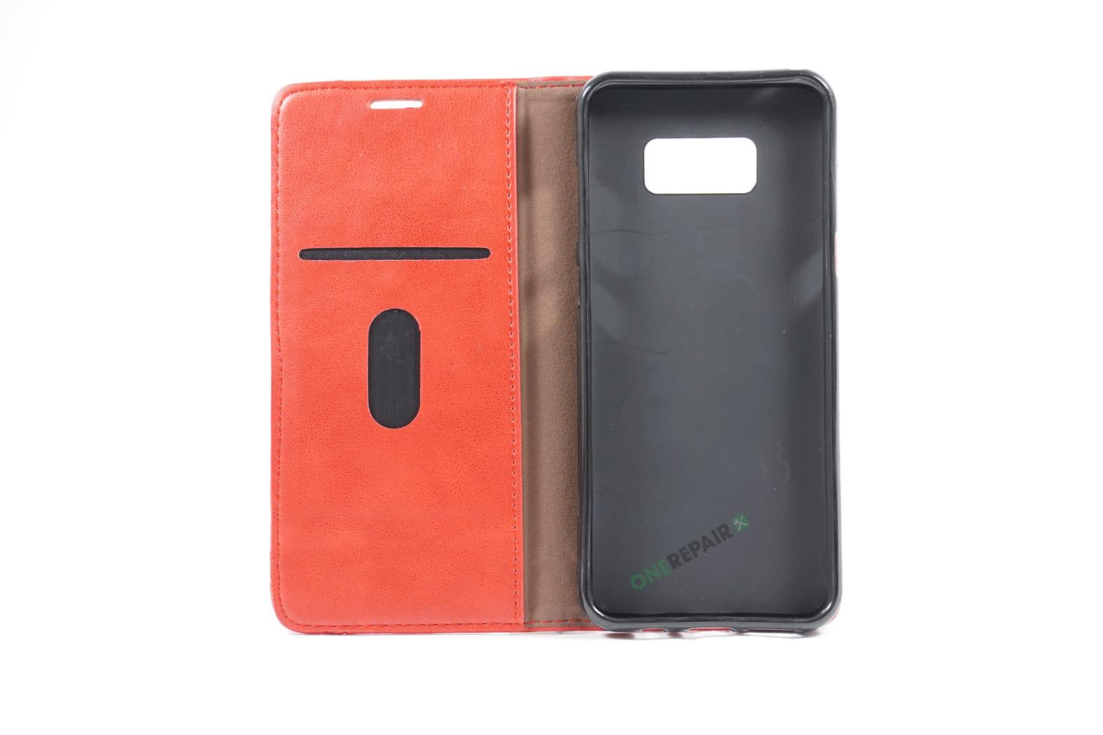 350709_Samsung_S8+_Flipcover_Gummikant_Cover_Roed_OneRepair_00002
