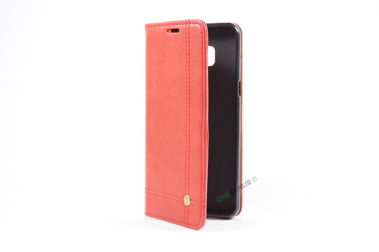 350709_Samsung_S8+_Flipcover_Gummikant_Cover_Roed_OneRepair_00004