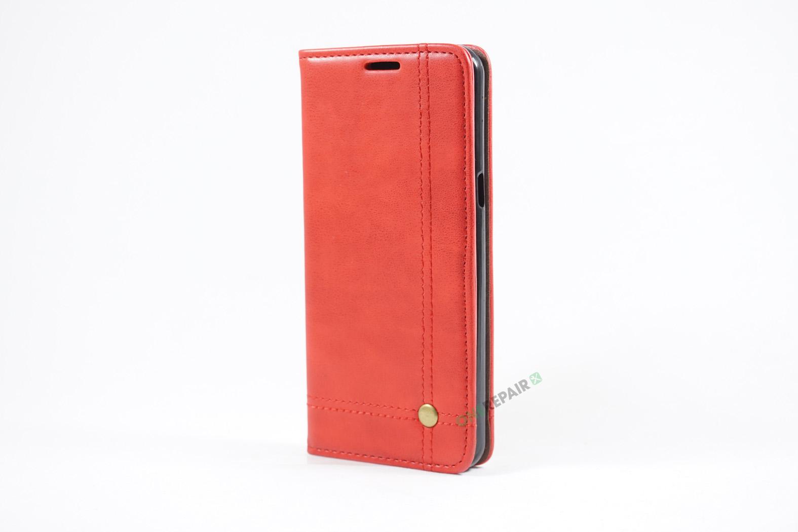 350709_Samsung_S8+_Flipcover_Gummikant_Cover_Roed_OneRepair_00005