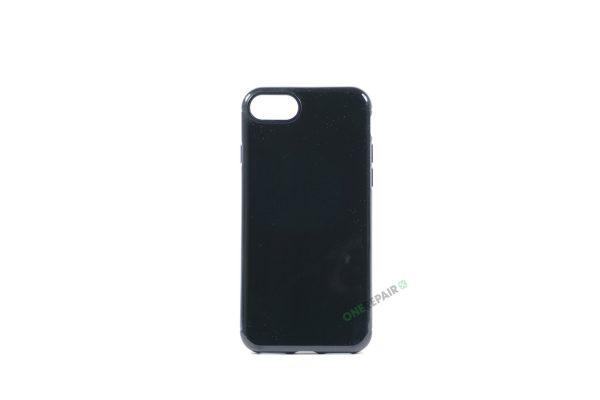 iPhone 7, iPhone 8, Gummi cover, Sort, Simpelt, Enkelt, Apple