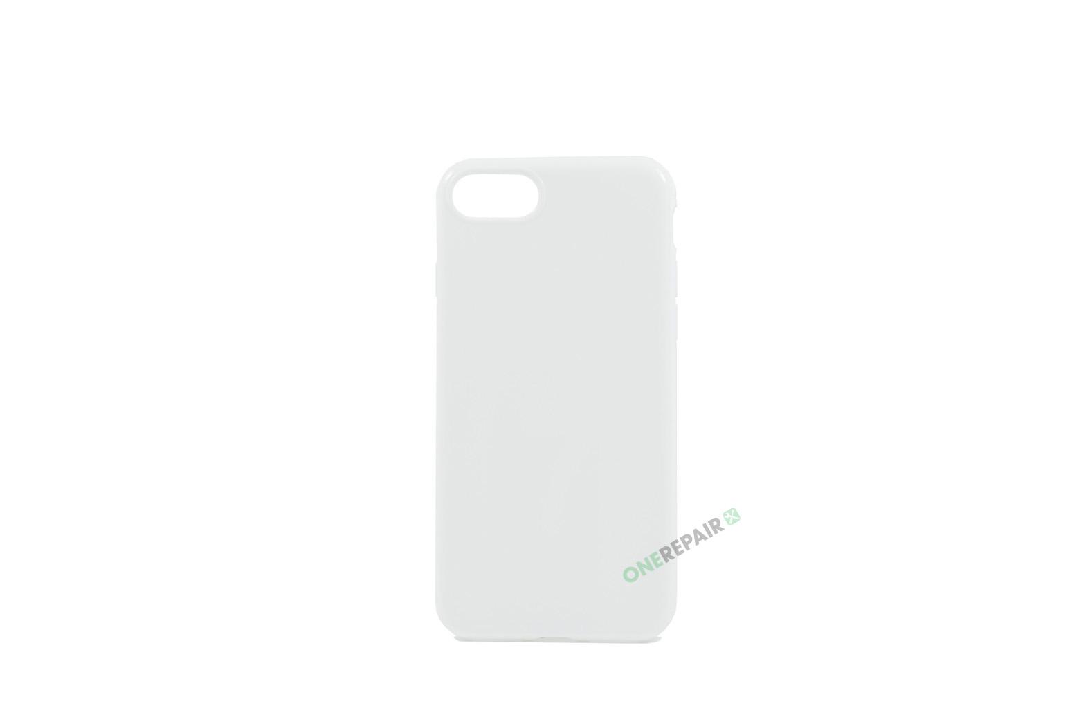 iPhone 7, iPhone 8, Gummi cover, Hvid, Simpelt, Enkelt, Apple