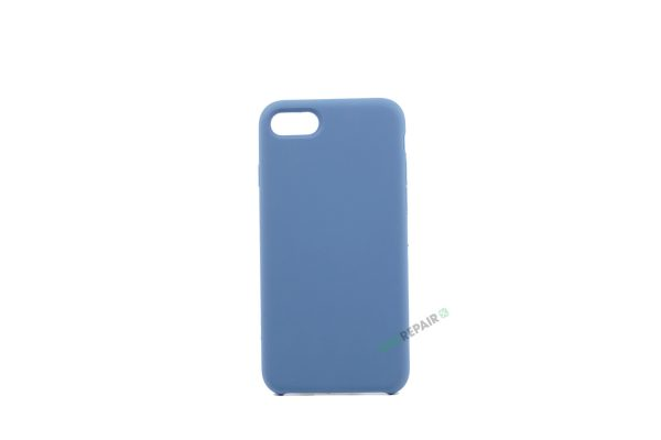 iPhone 7, iPhone 8, Silikone cover, Blå, Simpelt, Enkelt, Apple