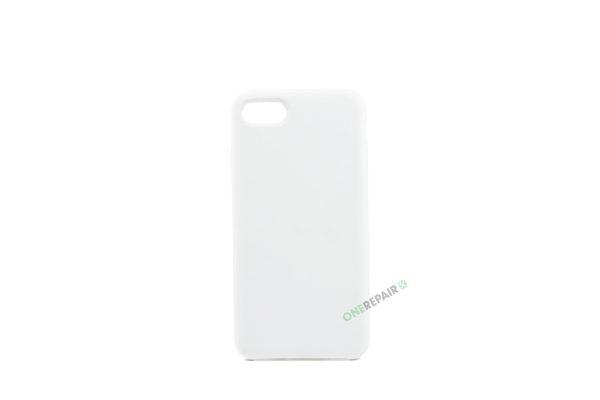 iPhone 7, iPhone 8, Silikone cover, Hvid, Simpelt, Enkelt, Apple