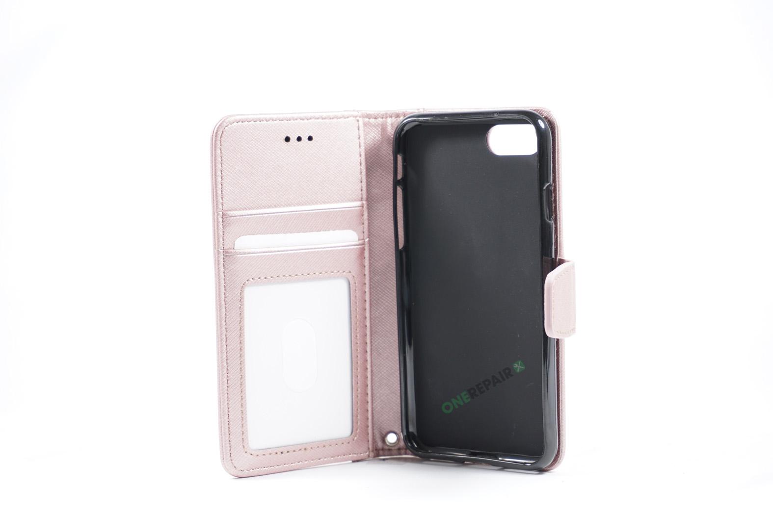 350788_iPhone_7_8_Luxury_Flipcover_Cover_Lyseroed_Pink_OneRepair_WM_00002