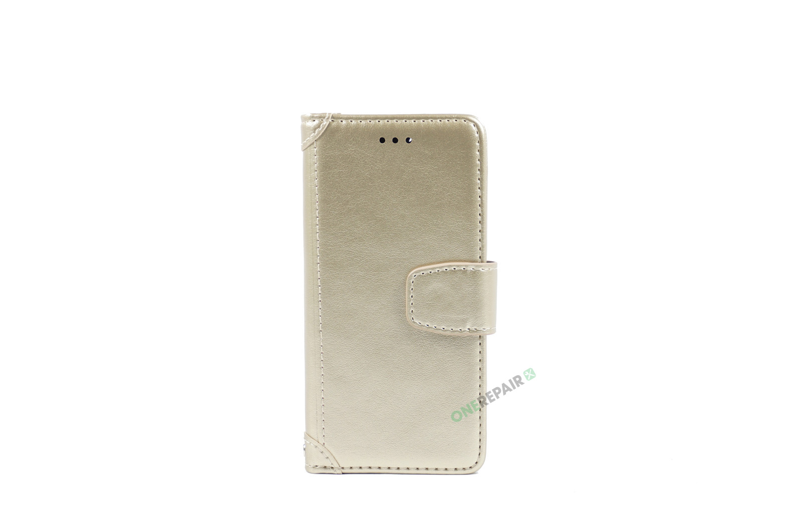 350790_iPhone_7_8_Luxury_Flipcover_Cover_Lyseroed_Guld_OneRepair_WM_00001