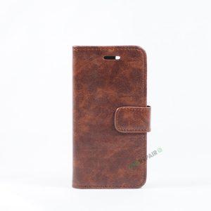 iPhone 7, iPhone 8, Flipcover, Plads til kort, Brun