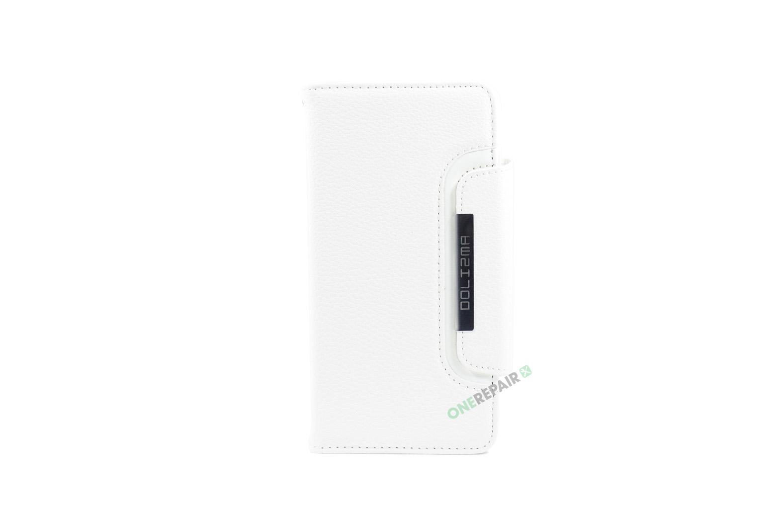 iPhone 7 Plus, iPhone 8 Plus, Flipcover, Cover, Plads til kort, Etui, Hvid