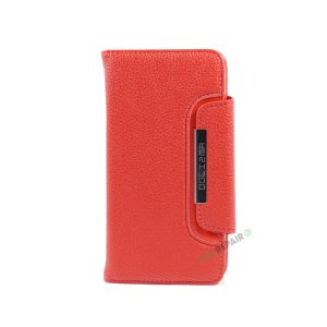 iPhone 7 Plus, iPhone 8 Plus, Flipcover, Cover, Plads til kort, Etui, Rød