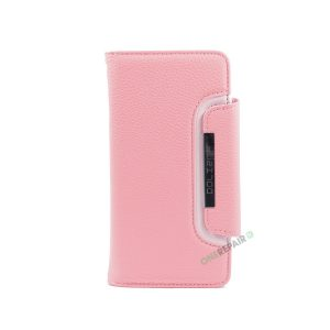 iPhone 7 Plus, iPhone 8 Plus, Flipcover, Cover, Plads til kort, Etui, Lyserød