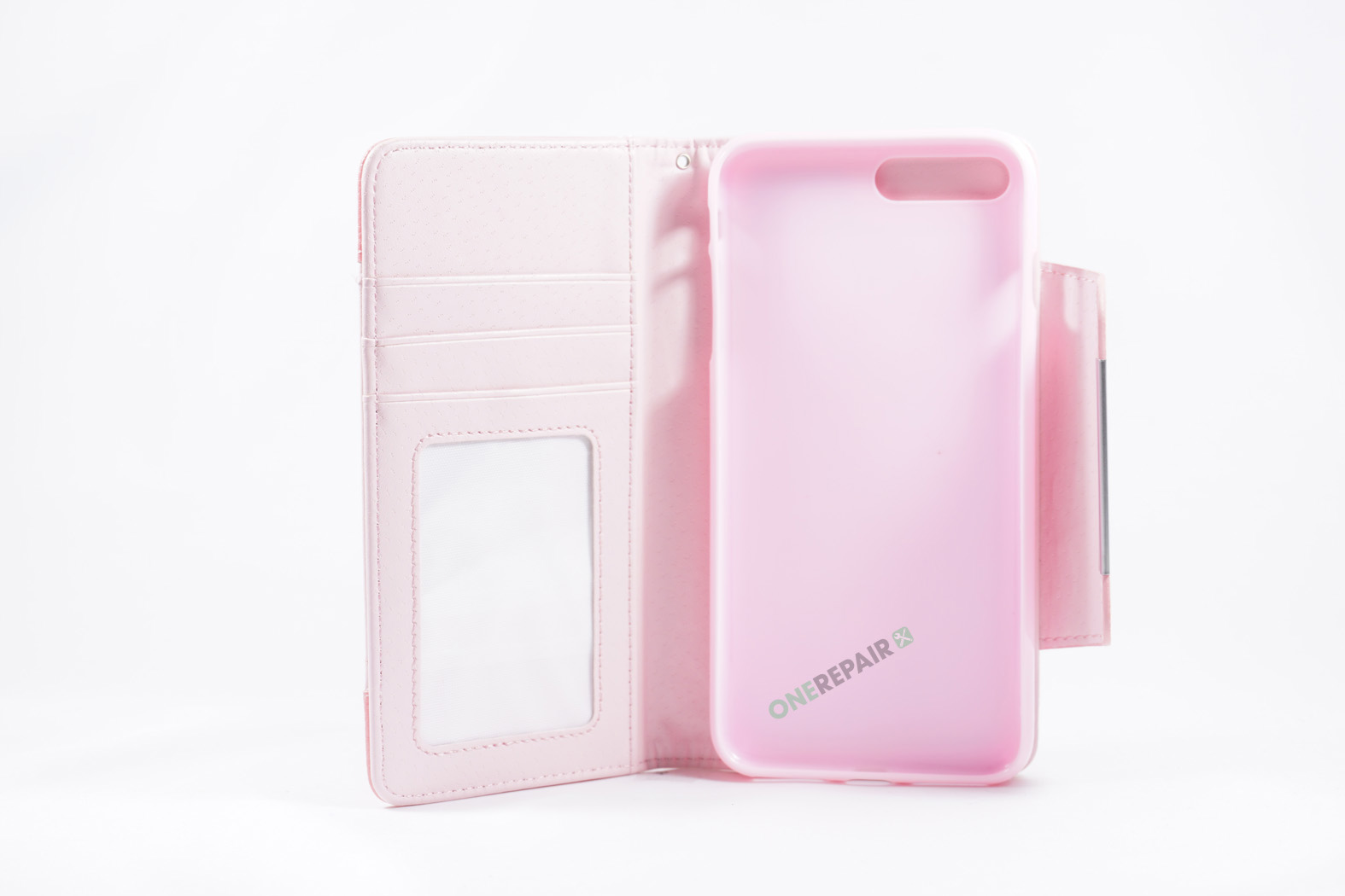 350852_iPhone_7+_8+_Plus_Flipcover_Magnet_Cover_Lyseroed_Pink_OneRepair_WM_00002