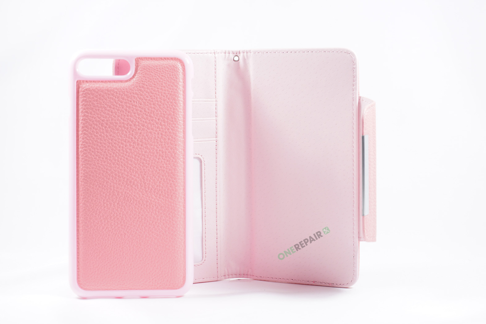 350852_iPhone_7+_8+_Plus_Flipcover_Magnet_Cover_Lyseroed_Pink_OneRepair_WM_00003